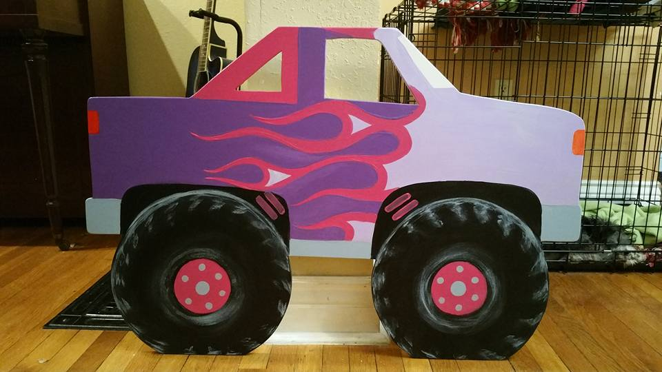 Monster Truck (pink and purple)